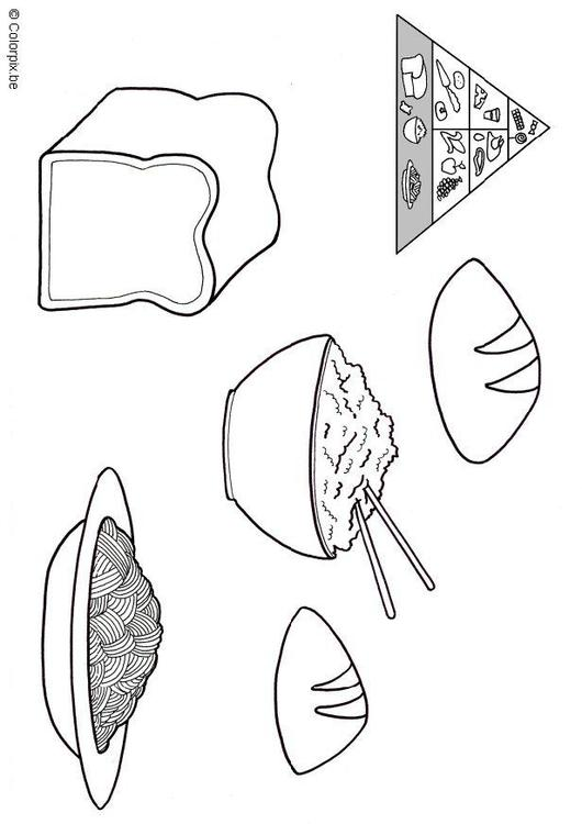 grains food group coloring pages - photo#4