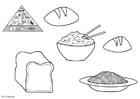 Malvorlage  Getreideprodukte