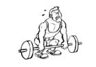 Malvorlage  Gewichtheben