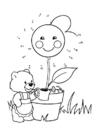 Malvorlage Die Blumen Giessen Ausmalbild 22154