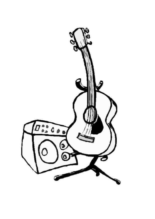 malvorlage gitarre  kostenlose ausmalbilder zum