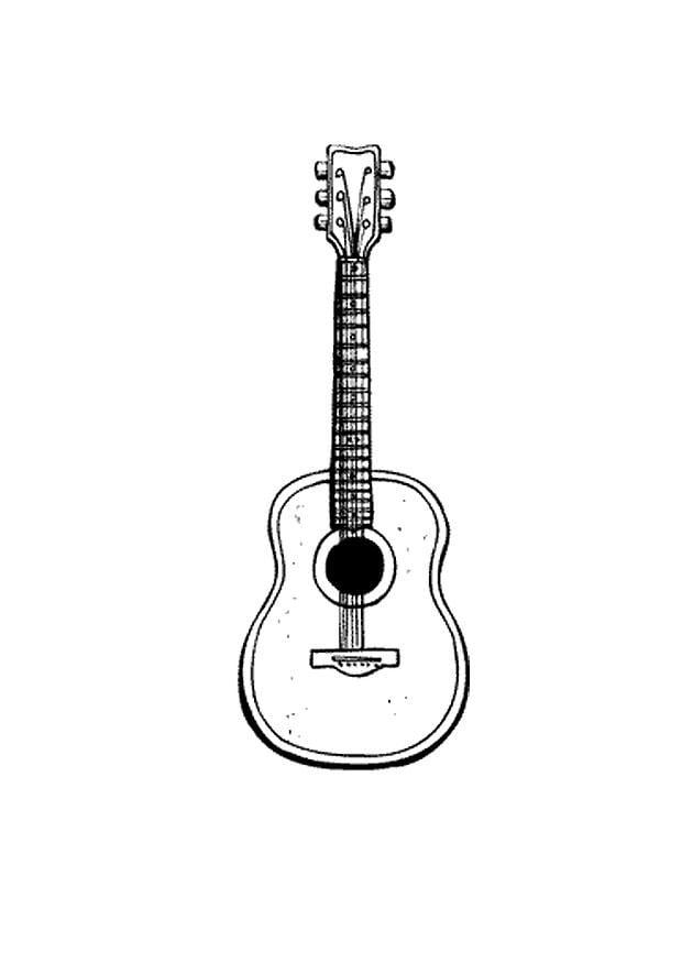 malvorlage gitarre  ausmalbild 9583