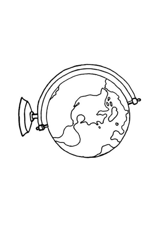 Malvorlage Globus Ausmalbild 15640 Images