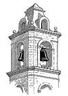 Malvorlage  Glockenturm - Belfort