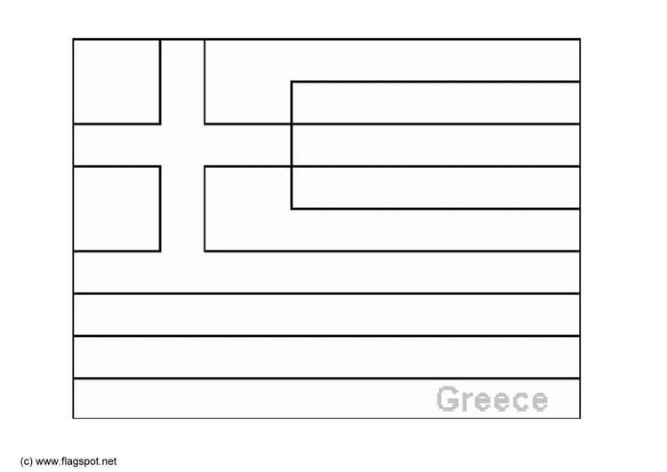 Malvorlage Griechenland | Ausmalbild 6370.