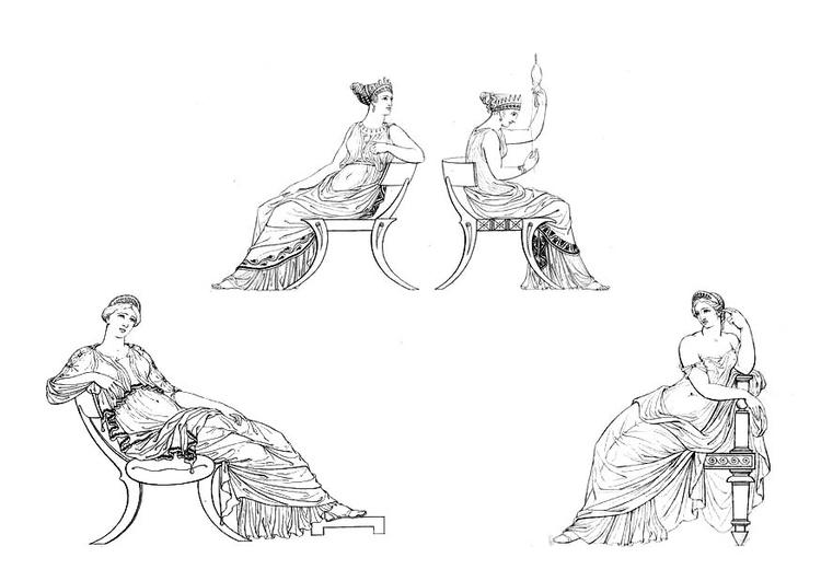 Malvorlage Griechische Frauen | Ausmalbild 9433.