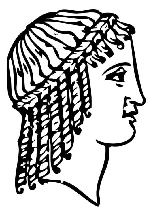 Malvorlage griechischer Haarschnitt | Ausmalbild 28367.
