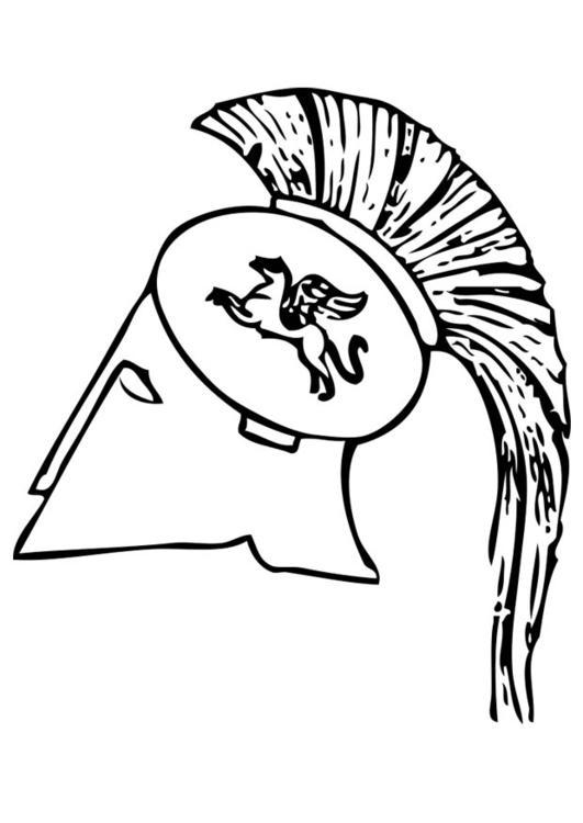 Malvorlage griechischer Helm | Ausmalbild 17423.