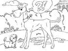 Malvorlage  grosser und kleiner Hund