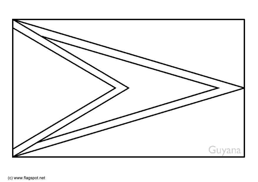 Malvorlage Guyana Ausmalbild