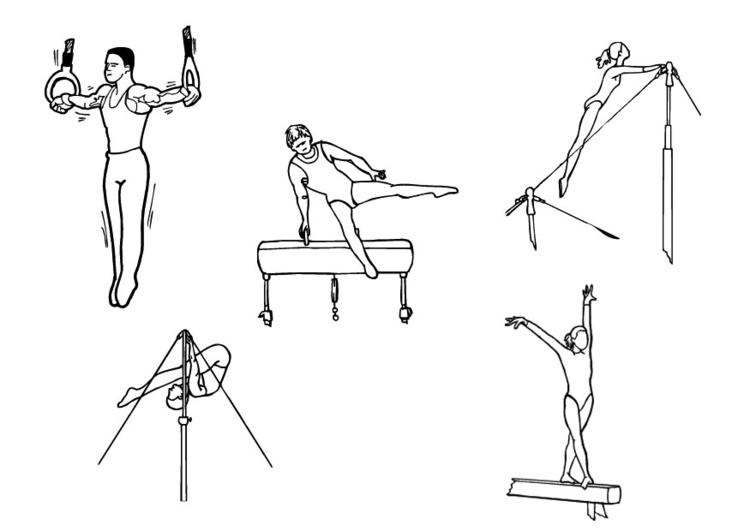 Malvorlage Gymnastik | Ausmalbild 10126.