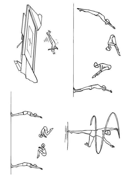 Malvorlage Gymnastik | Ausmalbild 10125.