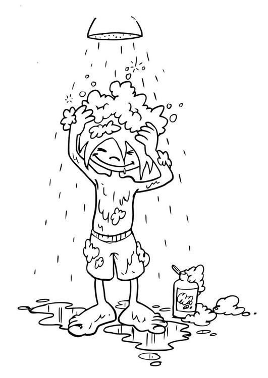 Malvorlage Haare waschen  Ausmalbild 19192 ~ Waschbecken Zum Haare Waschen