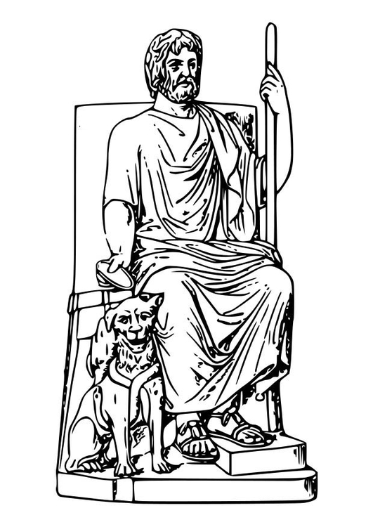 Malvorlage Hades | Ausmalbild 18593.
