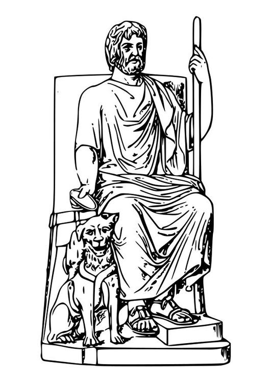 Malvorlage Hades | Ausmalbild 18626.