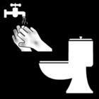 Malvorlage  Hände waschen nach der Toilettenbenutzung