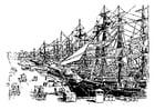 Malvorlage  Hafen