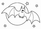 Malvorlage  Halloween Fledermaus