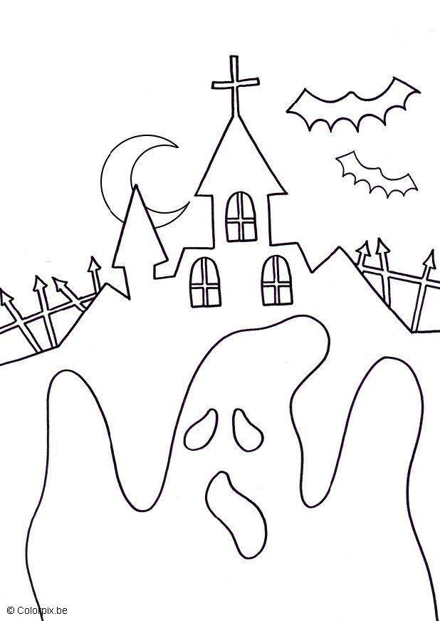 malvorlage halloween geist  kostenlose ausmalbilder zum