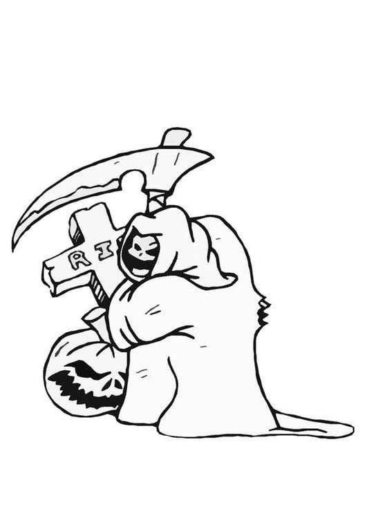 Malvorlage Halloween Geist | Ausmalbild 8587.