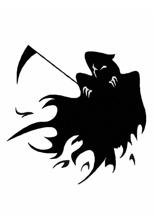 Malvorlage Halloween Geist | Ausmalbild 8595.