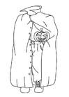 Malvorlage  Halloween Geist