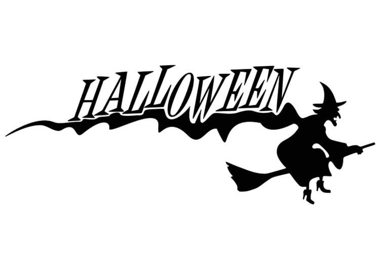 malvorlage halloween  hexe  kostenlose ausmalbilder zum
