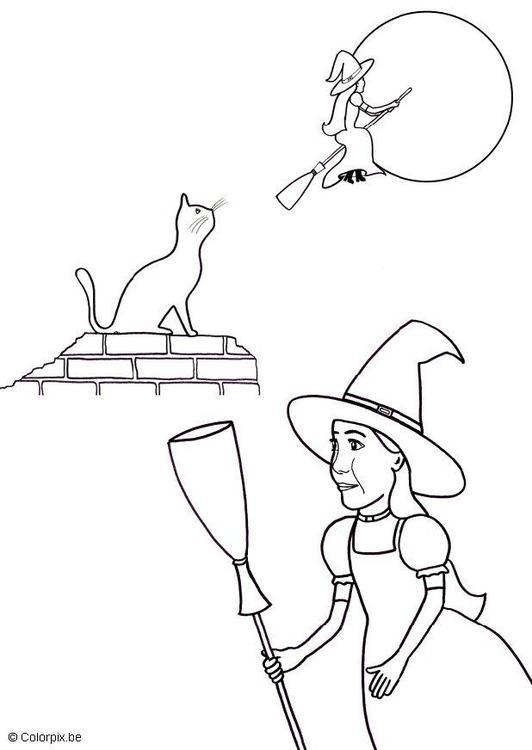 Großzügig Halloween Malvorlagen Hexe Bilder - Ideen färben ...