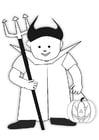 Malvorlage  Halloween Kostüm