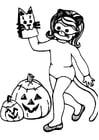 Malvorlage  Halloween Verkleidung