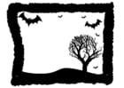 Malvorlage  Halloweenrahmen