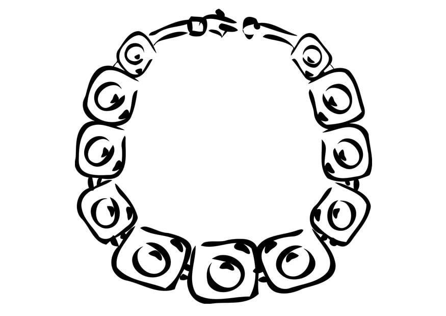 malvorlage halskette  ausmalbild 19356