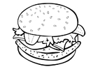 Malvorlage  Hamburger
