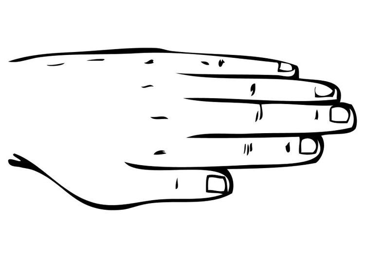 Malvorlage Hand | Ausmalbild 10230.