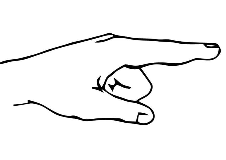 Malvorlage Hand | Ausmalbild 22122.