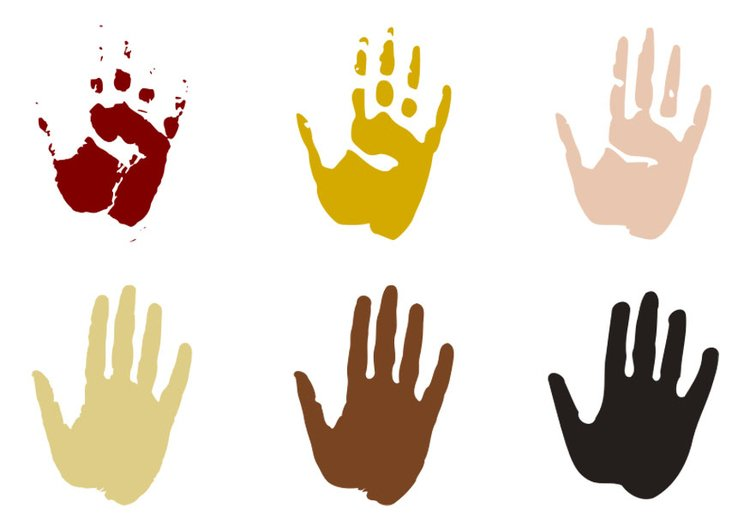 malvorlage handabdrücke  kostenlose ausmalbilder zum