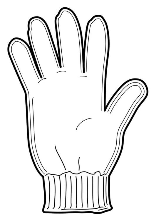 Malvorlage Handschuh | Ausmalbild 18953.