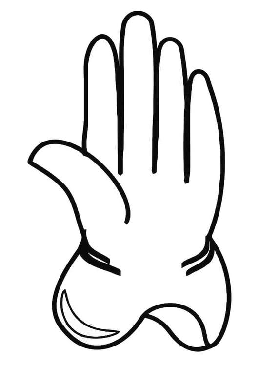 Malvorlage Handschuh | Ausmalbild 19343.