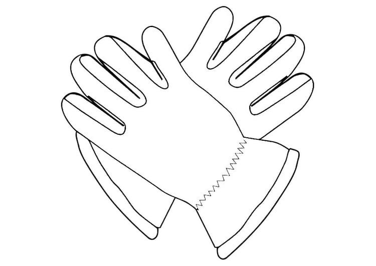Malvorlage Handschuhe | Ausmalbild 19339.