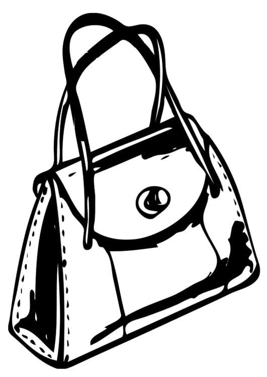 malvorlage handtasche  kostenlose ausmalbilder zum