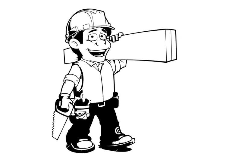 Handwerker ausmalbilder  Malvorlage Handwerker | Ausmalbild 29058.