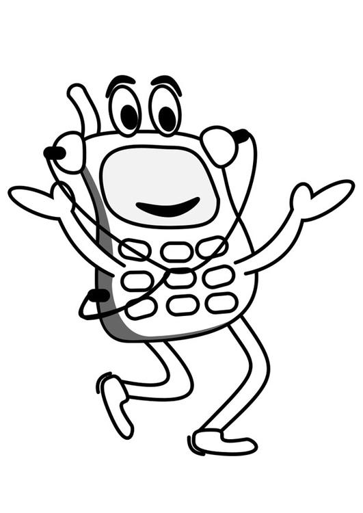 Malvorlage Handy | Ausmalbild 19794.