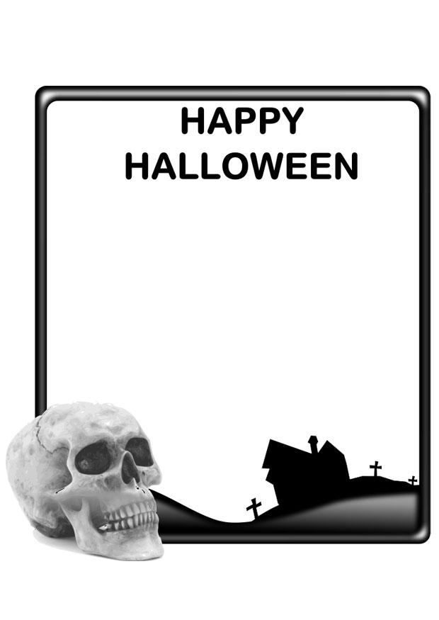 Malvorlage Happy Halloween | Ausmalbild 22981.