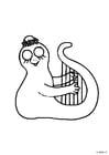 Malvorlage  Harfe