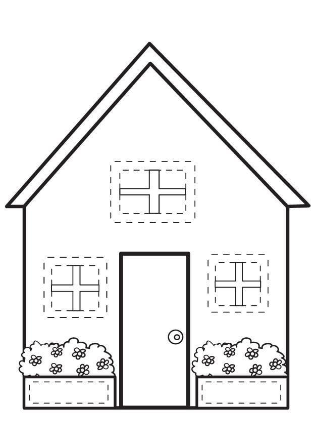 Malvorlage Haus   Ausmalbild 7095.