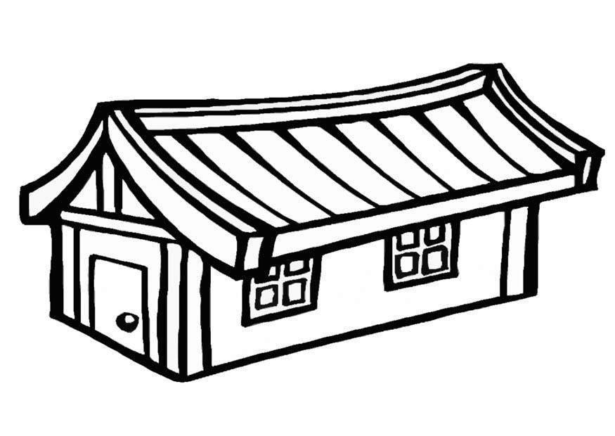 Malvorlage Haus   Ausmalbild 9314.