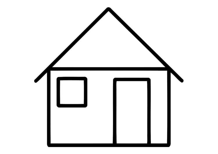 Malvorlage Haus   heimhifi.com