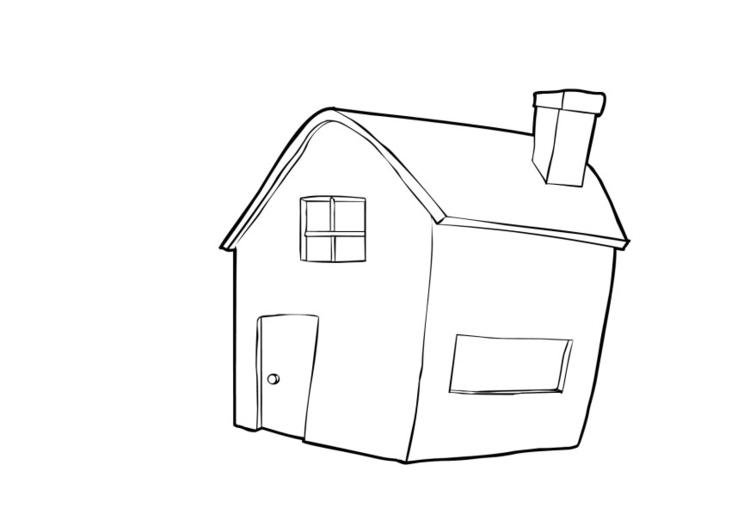 Malvorlage Haus | Ausmalbild 13739.