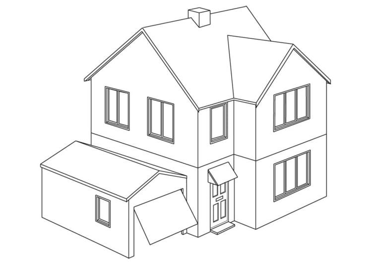 Malvorlage Haus | Ausmalbild 9454.
