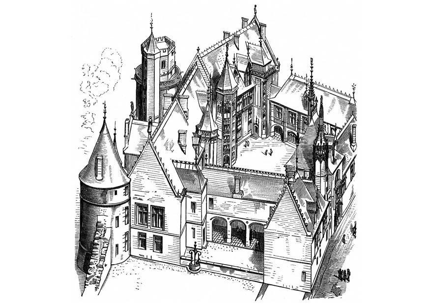 Kleurplaat New York Malvorlage Haus In Frankreich Bourges 1443 Kostenlose